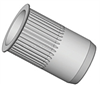 Countersunk Head Knurled Round Body Threaded Insert - Open End - Metric -- aecks-m3-3-5zn-2