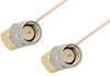 SMA Male Right Angle to SMA Male Right Angle Cable 18 Inch Length Using PE-034SR Coax -- PE34219-18 -Image