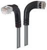 Category 5E Shielded LSZH Right Angle Patch Cable, Right Angle Right/Right Angle Down, Gray, 25.0 ft -- TRD815SZRA10GRY-25 -Image