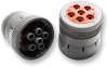 Amphenol AHD16-6-12S-B010 AHD 6-Pin Plug for Size 12 Contacts, Locking Ring Included -- 38669 -Image