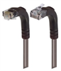 Category 6 LSZH Right Angle Patch Cable, Right Angle Up/Right Angle Down, Gray, 1.0 ft -- TRD695ZRA4GRY-1 -Image