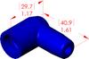 Angle Boot Insulator -- 16028 - Image