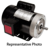AC MOTOR 0.33HP 1800RPM 56C 115/ 208-230VAC 1-PH ROLLED STEEL -- MTR-P33-1AB18 - Image