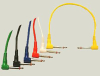 Whirlwind XP Effects Patch Cords Right Angle 6Pk -- WHIXP280RA -- View Larger Image
