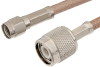 SMA Male to TNC Male Cable 12 Inch Length Using RG142 Coax -- PE3664-12 -Image