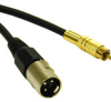 50ft Pro-Audio XLR Male to RCA Male Cable -- 2215-40050-050