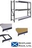 Corrugated Steel Decking Storage Racks 8' HIGH SECTIONS WITH 3 STEEL DECKS -- H83843