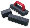 Fluted Rubbing Brick,8x2x2 In -- 1RDE3