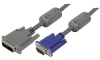 Premium DVI-A Male DVI Cable / HD15 Male w/ Ferrites, 10.0 ft -- MDA00020-10F - Image