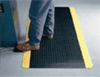415.916X3X5BYL - Wearwell Diamond-Plate Spongecote Safety Mat, 3 ft W x 5 ft L, 9/16