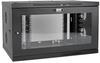 SmartRack 9U Low-Profile Switch-Depth-Plus Wall-Mount Rack Enclosure Cabinet, Wide, Acrylic Window -- SRW9UDPGVRT -- View Larger Image