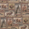 Bear Moose Patch Tapestry Fabric -- R-Yellowstone RR - Image