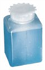 Cole-Parmer Graduated Square HDPE Wide-Mouth Bottle, 2000 mL; 6/Pk -- GO-06019-82