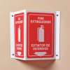 Fire Hose Sign,12 x 9In,WHT/R,PLSTC -- 8EX80
