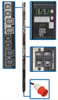 TAA Compliant 3-Phase Switched PDU, 28.8kW, 24 240/230/220V Outlets (12 C13, 12 C19), Hardwire 415/400/380V Input, 0U Vertical Mount -- PDU3XVSRHWATAA