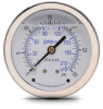 0-30 psi Liquid filled Pressure Gauge with 2.5 inch mechanical dial -- G25-SL30-4CB