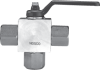 3-Way Stainless Steel Ball Valve -- SSBV - 3