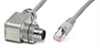 Cat5E Shielded Twisted Pair (STP) Cable with 90º M12 to RJ-45 Connectors, Shielded, -- CAT5E-RM12-RJ45-X - Image