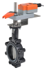 Butterfly Valve With Electronic Fail-Safe Actuators -- F6 Series