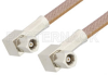 SMC Plug Right Angle to SMC Plug Right Angle Cable 60 Inch Length Using RG400 Coax, RoHS -- PE34459LF-60 -Image