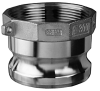 Stainless Steel Part A Male Adapter x Female NPT -- SS304-A & SS-A Series -Image