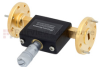 WR-22 Waveguide Continuously Variable Attenuator With Dial 0 to 30 dB Operating from 33 GHz to 50 GHz, UG-383/U Round Cover Flange -- SMW22AT001-30 - Image