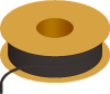 Flexible Tubing, 45 Shore A, Black Opaque -- AP00PV184VBK