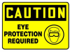 Caution Eye Protection Required Icon Sign -- SGN1012