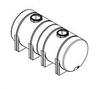 1800 Gallon Horizontal Leg Tank -- N-42990