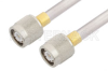 TNC Male to TNC Male Cable 24 Inch Length Using PE-SR401AL Coax , LF Solder -- PE34275LF-24 -Image