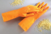 Ansell Tan Rubber Glove -- ANE26