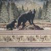 Black Bear Frieze Fabric -- R-Ben -- View Larger Image