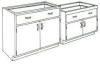 Standard Steel Laboratory Cabinet, (2) Doors & (1) Drawer -- 210 Series