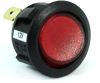 Fully Illuminated Round Rocker Switch 44236, On-Off, SPST, 3 Contacts, Red -- 44236 - Image