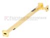 10 dB WR-42 Waveguide Broadwall Coupler with UG-595/U Square Cover Flange and H-Plane Coupled Port from 18 GHz to 26.5 GHz in Brass Copper -- SMW42HC001-10 - Image