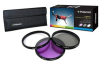 Polaroid PL3FIL58 3-Piece Filter Kit - 58mm, UV, CPL, FLD -- PL3FIL58 - Image