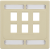 6-Port Ivory Double-Gang Wallplate -- WPC7478 - Image