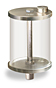 "(Formerly B966-63), Oil Reservoir, 1 pt Pyrex, 3/8"" Male NPT, Pipe Mount -- B966-0163PB1W -- View Larger Image"