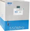 Cat6 Gigabit Bulk Solid PVC Cable - Gray, 1000-ft. -- N222-01K-GY - Image