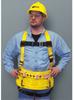 Miller 850DT Yellow Small Vest-Style Abdomen Padding Body Harness - Nylon Webbing - 612230-14794 -- 612230-14794