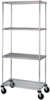 Cart 4-Shelf/Wire Brite with Casters -- N536BBR