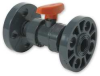 Ball Valve,1 1/2 In Flanged,PVC -- 1CMB8