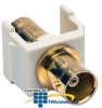 Hubbell Snap Fit Coaxial Gold BNC F/F Coupler -- SFBGOW