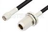SMA Male to N Female Bulkhead Cable 18 Inch Length Using RG223 Coax, RoHS -- PE3193LF-18 -Image
