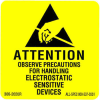 """Label, Removeable, 2"""" x 2"""" """"Attention Observe Precautions"""" -- 306-2020R -- View Larger Image"""