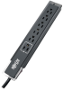Protect It! 6-Outlet Surge Protector, 6 ft. Cord, Right-Angle Plug, Side-Mount Switch, 1440 Joules, Tel/Modem Protection, Black Housing -- TLP606SSTELB