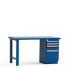 Workbench with L Cabinet, Painted Steel Top (60