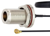 N Female Bulkhead to UMCX 2.1 Plug Cable 0.81mm Coax in 3 Inch and RoHS Compliant -- FMCA1013-3 -- View Larger Image