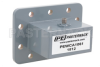 WR-229 CPR-229G Grooved Flange to SMA Female Waveguide to Coax Adapter Operating from 3.3 GHz to 4.9 GHz -- PEWCA1061 - Image