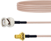 BNC Male to SMA Female Bulkhead Cable RG316 Coax in 36 Inch -- FMC0812316-36 -Image